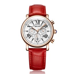 Wholesale Vintage Square Mens Watches - 2018 Luxury women Leather Mechanical Wrist watches Brands Red Day Date Swiss Vintage Square Antique Mens Dress Wrist watches Low Prices Box