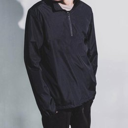 Wholesale Men S Fashion Outfits - 18SS Champion Half Zip Pullover Jacket Fashion Luxury Casual Women Men Couple Outfit Casual Loose Hip-hop Streetwear Jackets HFLSJK089