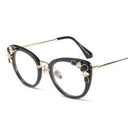 02492703eb464 Transparent crystal cat eye glasses frames for women designer brand 2019  women s luxury eyeglasses rhinestones high quality