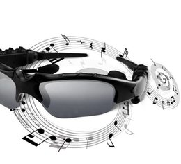 bluetooth спортивные наушники для наушников mp3 Скидка Новая мода солнцезащитные очки Bluetooth гарнитура беспроводные спортивные наушники Sunglass стерео наушники громкой связи MP3-плеер черный с розничной