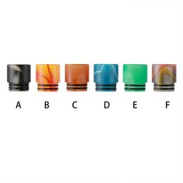 Wholesale ming drip tips - Newest Acrylic 810 Drip tip Color pattern Acrylic Ming Wide Bore Mouthpiece for 810 TFV8 TFV12 Atomizer Tank Drip Tips DHL Free