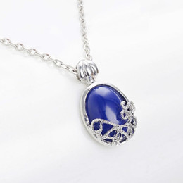 Wholesale Vampire Diaries Movie - Vampire Diaries necklace, Elena Gilbert Katherine Daylight Sunlight Lapis necklace In Silver Vampire Diaries Movie Jewelry