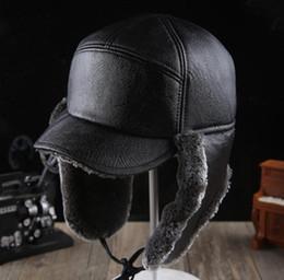 Wholesale Free Matting - High Quality winter bomber hats men Russian dull polish matting faux fur cap Casual Earmuffs Keep warm hat lei feng caps for men