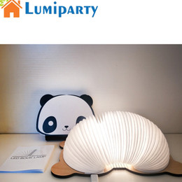 Wholesale Chip Office - LumiParty Portable 8 Led Cob Chip Book Light USB Charging Colourful Cute Panda Book Light Night Lamp Home Office Decoration Gift