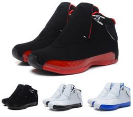 tecido de fibra de carbono azul Desconto Nike Air Jordan 18 tênis de basquete