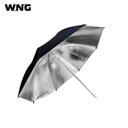 luci di ombrello foto Sconti Photo Umbrella 33in 83cm Photo Studio Accessori Strobe Flash Light Reflector Soft Reflective Black Sliver Photography Ombrello