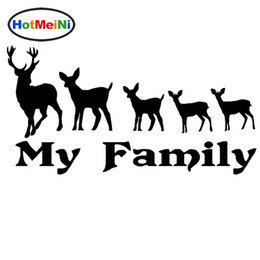 Wholesale vinyl surfaces - Wholesale Car Decorations Vinyl Decal Car Glass window Stickers any flat surface Jdm Deer Family Hunting Bow