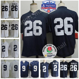 0194524fd Penn State Nittany Lions 26 Saquon Barkley Jersey College Football 9 Trace  McSorley 1 Joe Paterno 22 Akeel Lynch Fiesta And Rose Bowl Patch