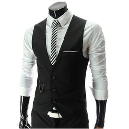 Wholesale Men S Slim Suits Sale - Wholesale- Hot Sale! 2016 Autumn Men's Slim Fit Dress Suit Vest Waistcoats, Men Gilet Colete Fashion chaleco Hombre, Brand New