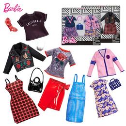 Ropa de muñeca zapatos online-Original Mix Dolls Ropa de Moda Trajes vestido elega Doll Shoes Set Juguetes Para Niñas Niños Accesorios Jugar House Party