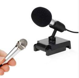 Metal MINI Jack 3.5mm Studio Profesyonel Mikrofon El Mic Cep Telefonu Bilgisayar için iPhone ipad karaoke nereden gizli güvenlik kameraları sesi tedarikçiler