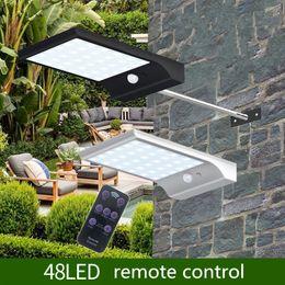 Wholesale remote solar lighting - Solar Power LED Light Remote Control 7 Colour Adjustable 48led Waterproof Super Bright LED solar Garden light