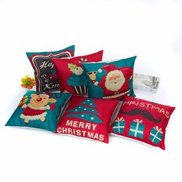 Wholesale Cooling Pillow Cover - baby new Xmas Style Cushion Cover Merry Christmas! Santa Claus Socks Balloon Home Decorative Pillows Cover Nordic Baby pillow