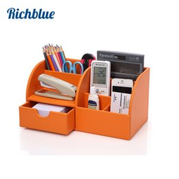 Wholesale Wood Desktop Box Organizer - Ever Perfect Desktop Organizer Stationery Storage Box Pencil Holder For Desktop Home Decoration