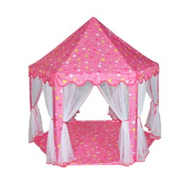 Wholesale Play House Children - Portable Princess Castle Play Tent Children Activity Fairy House kids Funny Indoor Outdoor Playhouse Beach Tent Baby playing Toy