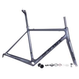 Wholesale Carbon Road Bikes 54 - 2018 Deacasen Hot Sale Ocana carbon road frame BB RIGHT glossy carbon frames size 48 51 54 56 58CM raw frame 850+-20g carbon bike frames