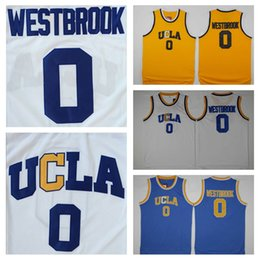 Wholesale ucla bruins - Men's UCLA Bruins NCAA #0 Russell Westbrook Jersey Yellow White Blue Russell Westbrook College Basketball Jerseys University Stitched Shirts