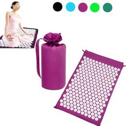 Tapis de yoga Coussin de massage Tapis Acupressure Soulager le stress Masseur Acupuncture Spike Tapis de yoga ? partir de fabricateur