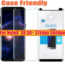 Wholesale Anti Glare Protectors - For samsung galaxy note8 note 8 S8 plus S7edge S6Edge case friendly 3d curved tempered glass Case Version phone screen protector