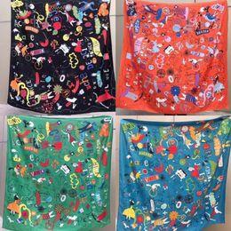 Wholesale Blue Stole - AA 2018 luxury brand Women Silk scarf Beach Shawl and Echarpe Luxurious Wrap Designer scarves Plus Size female beach stole bandana