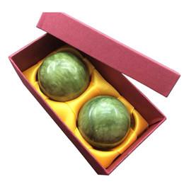 Китайские инструменты онлайн-2X Мраморный нефрит Баодинский китайский стресс для здоровья Упражнения для лечения релаксации
