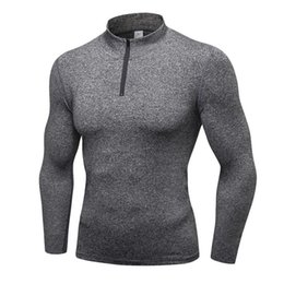 Wholesale Wholesale Running Jackets - 2018 Long Sleeve Male Tops Sport Jacket Men Quick Dry Fitness Workout Training Jersey Cardigans Hooded Jacket