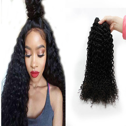 Wholesale Tights Bundle - Indian Hair Bundles Natural Color Can Be Dyed Curly Weave Hair Bundles Tight Afro Kinky Curly 4 pcs a lot