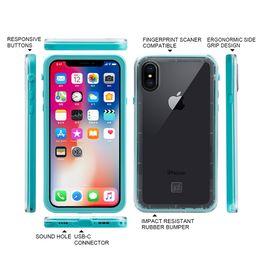 Wholesale armor series - Waterproof Armor Case For iPhone X 8 7 Plus Shockproof Phone Dustproof Cover Redpepper Series IP68 Retailpackage Aicoo