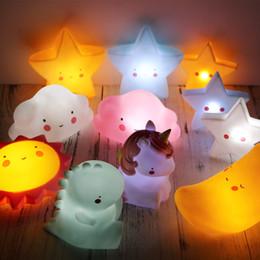 Wholesale Plastic Ends - Novelty Luminous Mini Lamps Sun Star Cloud Smile Face Shape LED Light Cute Cake Decoration Ornament High End 7 5ta B