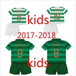 Wholesale Celtic Kits - TOP Quality 2017 2018 Celtic FC Home Soccer Jersey Celtic kids kit Griffiths dembele Sinclair Rogic McGregor Roberts Forrest Jersey