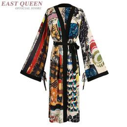 Kimono vestido tradicional online-Kimono japonés vestido tradicional cosplay mujeres yukata mujeres haori Japón geisha traje obi kimonos mujer 2018 FF1062