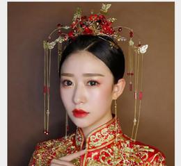 Rabatt Chinesische Rote Haare Zubehor 2019 Chinesische Hochzeit
