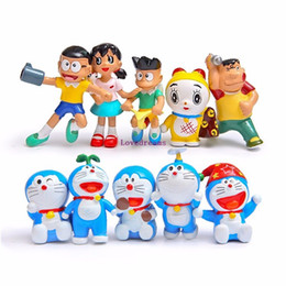 10 unids / set Anime Cartoon Lindo Doraemon PVC Figura de Acción llaveros de Colección 6 cm Juguetes Modelo Muñecas Regalo de Los Niños desde fabricantes