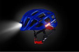 Wholesale Helmet Cycling Mountain Bike - LED Light Cycling Helmet Bike Ultralight helmet Intergrally-molded Mountain Road Bicycle MTB Helmet Safe Men Women 49-59cm