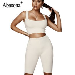 d1e763eaa91 Abasona Summer Woman Backless Sleeveless Casual Playsuits Women Solid Sexy  Bodycon Ribbed Jumpsuit Sportsuit Women Tank Jumpsuit