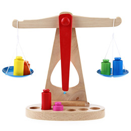 Wholesale wooden balance - Funny Wooden Scale Toys Montessori Early Learning Balance Education for Children Scale Funny Balance Baby Development Sensorial Early Child