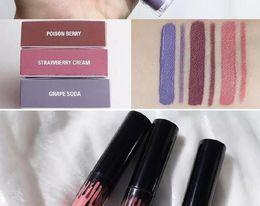 Wholesale Lip Liner Sets - LIP Gloss LIP Liner kits Matte Liquid Lipstick Sets Lip Velvetine In Red Velvet Makeup Poison Berry