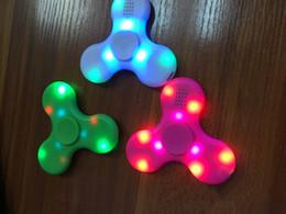 Elettronica giroscopica online-Bambini Cretive Toy Gyro Colorful Plastica Elettrica Musica Volante luminoso Giroscopio Puzzle Trottola Giocattolo elettronico a LED