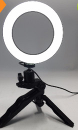 système de support des tiges de 15 mm Promotion 2018 Hot Photo Ring LED 14.5cm Éclairage photographique + Trépied Téléphone Vidéo Photographie Anneau Lumière USB Ligne 3000k-6000k Blanc Couleur Jaune