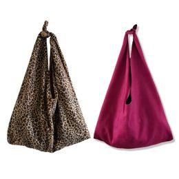 Leopard Sac Imprimé Animal Velvet Sac À Bandoulière 2018 Nouvelles Femmes Vintage Sacs Noués Grandes Dames Shopping Sac À Main Japon Gros ? partir de fabricateur
