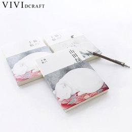 Blocco note del gatto online-Vividcraft Japanese Hand Books Blank Paper Notebook Cancelleria Creative Restoring Cats Notepad South Korea Hand Account Book