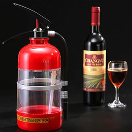Wholesale Glass Separator - Personality Fire Extinguisher Shape Beer Can Wine Separator Dispenser Bar KTV Hotel Cocktail Shaker Bartender Beer Cup Container