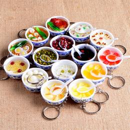mini-bowlingspielzeug Rabatt Kreative Schlüsselring Vintage Chinesische Porzellan Futternapf Mini Keychain Simulation Lebensmittel Tasche Charme Kinder Spielzeug 2 19 mt UU