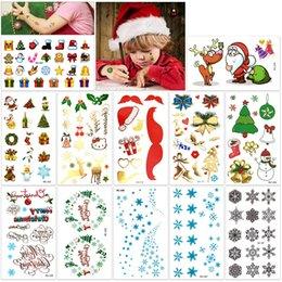 Argentina Kit de tatuajes temporales de navidad Feliz Navidad Feliz Año Nuevo Arte corporal Pegatinas a prueba de agua para niños Fiesta de Santa Suministro