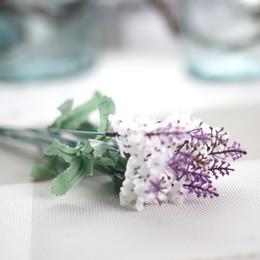 bellissimi fiori singoli Sconti 2018 New Artificiale Lavanda 10 teste fiori finti Bouquet Singoli steli Bel Design Home Wedding Mariage Party decorazione dell'hotel flore