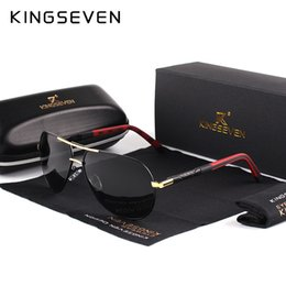 451b61360610 KINGSEVEN Men Vintage Aluminum HD Polarized Sunglasses Classic Brand Sun  glasses Coating Lens Driving Shades For Men Wome
