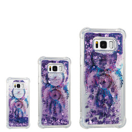 Wholesale Wholesale Iphone Goophone - Liquid sand phone case for samsung galaxy s8 plus goophone note 8 G530 j2 prime case Shockproof soft tpu quicksand full protector case