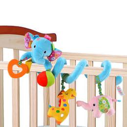 Wholesale Giraffe Crib Bedding - Sozzy Baby Toy Crib Car Bed Stroller Plush Spiral Hanging Decoration Toy Animal Elephant Giraffe Ring Baby Rattle Teether