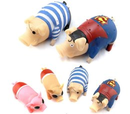 Wholesale Novelty Dog Gifts Toys - retail Electronic Pet Scream toy wholesale scream pig to take out the toys vent the whole prankster toy Novelty gift for children and adult