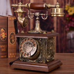 telefone de casa rosa quente Desconto Antigo telefone retro Europeu American home landline escritório hotel fashion criativo República da China telefone